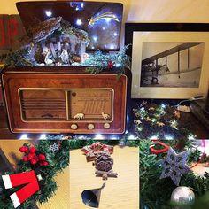 XMAS TIME - Completed!  #xmas #decorations #vintage #alternative #radio #diy #nativity #homesweethome
