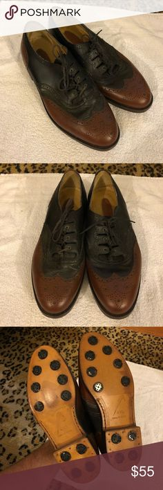 Nike Air Black & Brown Wingtips Golf Shoes 10.5 W Nike Zoom Air Black and Brown Wingtips Golf Shoes size 10.5 W! Great condition, need a couple of new spikes. Made in Italy! Great shoes! Please make reasonable offers and bundle! Ask questions :) Nike Shoes Athletic Shoes