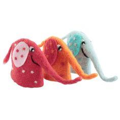 Eierwärmer Aufsteller Elefanten Filz 3er Set für den fröhlichen Frühstückstisch