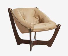 Luna Low Back Chair - Walnut Frame