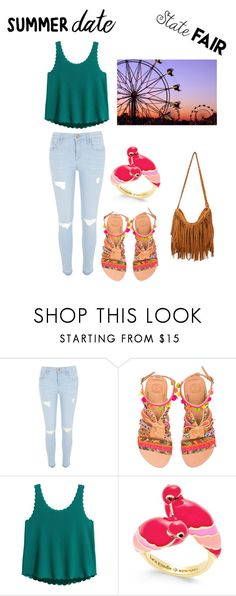"""""""Untitled #195"""" by cbar04 ❤ liked on Polyvore featuring River Island, Elina Linardaki, Kate Spade, statefair and summerdate"""