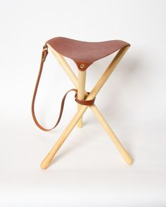 Chestnut Camp Stool $165 by Wood and Faulk