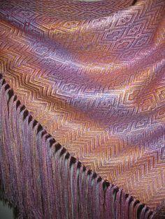 Teints main soie Tussah châle en soie tissés à la par tisserande
