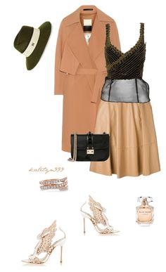 """You're lookin' good..."" by katelyn999 ❤ liked on Polyvore featuring By Malene Birger, Sophia Webster, Drome, Versace, Valentino, Maison Michel, Anita Ko, Elie Saab, valentino and sophiawebster"