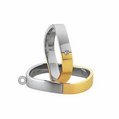 Βέρες γάμου Saint Maurice 87012 & 87013 - Συλλογή LIGHT - Μοντέρνες δίχρωμες βέρες με ιδιαίτερο σχήμα | Βέρες ΤΣΑΛΔΑΡΗΣ στο Χαλάνδρι #βέρες #βερες #γάμου