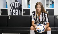 Christina Chiabotto, the new anchorwoman on Juventus Channel.