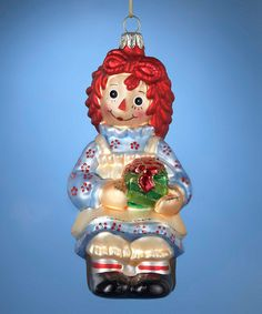 Another great find on #zulily! Raggedy Ann Present Ornament #zulilyfinds