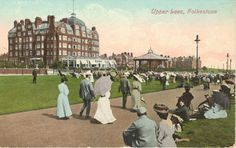 Folkestone - Upper Leas & Grand Hotel. Built by local builder Daniel Baker. Opened as the Grand Mansions in 1903.