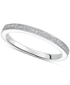 Diamond Accent Wedding Band by Sterling Silver on HeartThis