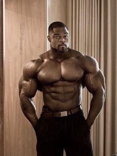 beautiful black men with muscular physiques Black Muscle Men, Black Men, Humanoid Mythical Creatures, Black Bodybuilder, Huge Biceps, Olympia Fitness, Dark Skin Men, Joe Weider, Mr Olympia