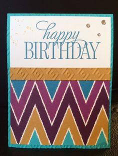 Happy Birthday Everyone Stampin' Up! Bohemian DSP