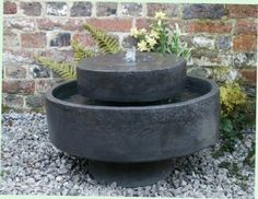 Small Solar Powered Water Feature Three Granite Spheres