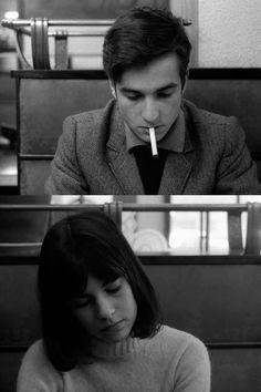 Jean-Pierre Léaud, Chantal Goya. Masculin/Feminin 1966, Directed by Jean-Luc Godard.