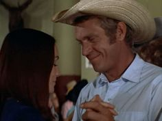 Steve McQueen, Junior Bonner (1972) with Barbara Leigh