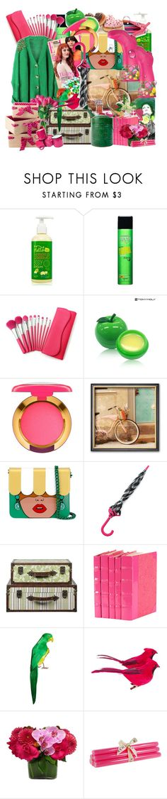 """""""Crazy colorS"""" by corlends ❤ liked on Polyvore featuring Etude House, Garnier, TONYMOLY, MAC Cosmetics, Yazbukey, Kate Spade, Elmer's, Decorative Leather Books, True Grace and London Fog"""