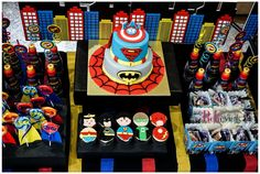 What an awesome superhero birthday party! See more party ideas at CatchMyParty.com!