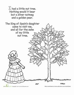 mother goose rhymes i had a little nut tree