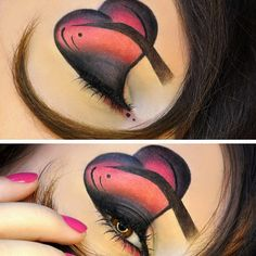 Sweet! Loredana created this amazing Valentine look using Sugarpill eyeshadows. What a creative one!