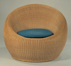 """By Isamu Kenmochi (1912-1971), 1960, """"Rattan Chair""""."""