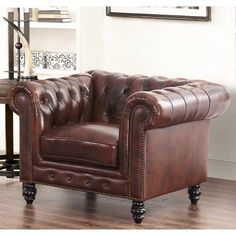 vintage chesterfield oxblood red leather wingback queen anne