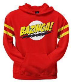 BAZINGA Hoodie Big Bang Theory Birthday Gift Xmas Youth Boy Girl Kids Hoody Top
