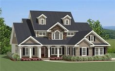 View this 3 story, 4 bedroom Farmhouse home plan (#189-1016) and thousands of similar house designs at The Plan Collection