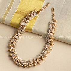 Jewelry OFF! Shop Mind Blowing South Indian Style Imitation Jewellery Designs Online Here Indian Jewelry Earrings, Indian Jewelry Sets, Jewelry Design Earrings, Gold Jewellery Design, Indian Wedding Jewelry, Beaded Jewelry, India Jewelry, South Indian Jewellery, Bridal Jewellery