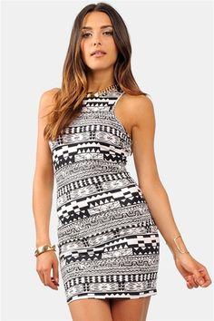 Tribeca Body Dress - Black/White #SoNecessarySB