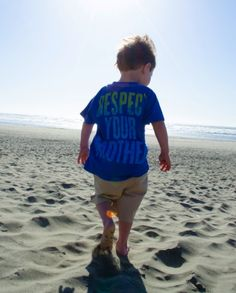 Because every little boy needs a Respect Your Mother tee :)