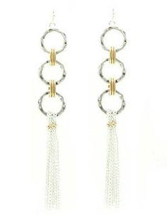 TASSEL chain earrings. Rock a celeb-worthy trend with these unique fringe earrings.Alhambra Sunset earrings. by NAMBASTE on Etsy