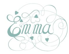 Script type inspired by Jane Austen's Emma. Script Tattoos, Name Tattoos, Tatoos, Sign Writing, Letter Writing, Fancy Writing, Typography, Lettering, Name Design