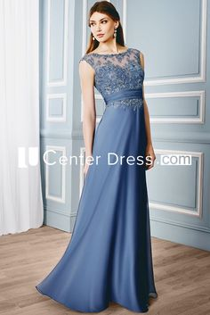 $129.29-Chic Sheath Sleeveless Bateau Long Mother of the Groom Dress With Illusion Back. http://www.ucenterdress.com/sheath-cap-sleeveless-bateau-floor-length-appliqued-formal-dress-with-illusion-back-pMK_300137.html.  Tailor Made mother of the groom dress/ mother of the brides dress at #UcenterDress. We offer a amazing collection of 800+ Mother of the Groom dresses so you can look your best on your daughter's or son's special day. Low Prices, Free Shipping. #motherdress