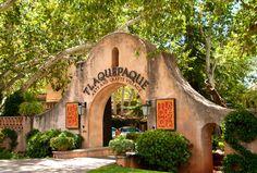 Tlaquepaque Arts and Crafts Village entrance, in Sedona, Arizona.