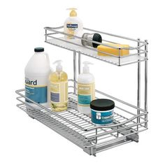 This Lynk Professional versatile single tier drawer gives you easy slide out access to all the items lost in the back of your kitchen, pantry, bathroom, and laundry room cabinets. Our exclusive low-profile space-saving shelf makes it easy to take out heavy mixers, pots and pans, and even your tall appliances. And it's a great solution for under sink storage. This 21 inch extra deep pull out drawer takes full advantage of the entire depth of your cabinets, so there is no wasted storage space…