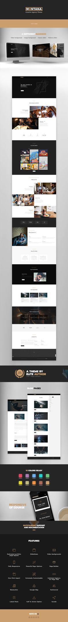 OnePage Portfolio, Agency, ShowCase WordPress Theme
