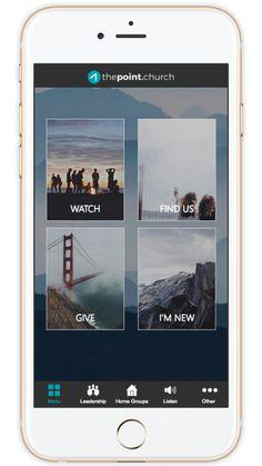 Church App - Beautiful Custom Mobile Apps for Churches Mobile Design, App Design, Church App, Small Groups, Mobile App, Apps, Branding, Engagement, Digital