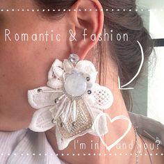 Handmade Earrings Dolce & Gabbana inspired , WHITE lace flower  on Etsy, 35,00€