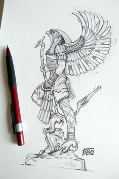Egypt Tattoo Design, Forearm Tattoo Design, Tattoo Design Drawings, Tattoo Sketches, Tattoo Designs, Horus Tattoo, Anubis Tattoo, Hamsa Tattoo, Egyptian Drawings