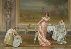 Lovely painting: The Tea Party by Vittorio Reggianini (1858-1938) Makes me want to put on a frock and go to tea! pic.twitter.com/Fl7oo19azR