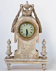 Small Swedish Clock via CoachBarn.com is perfect on a mantel. #coachbarn #design #furniture #decor