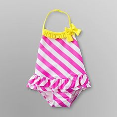 fe182fbbef3f0 Joe Boxer Infant  amp  Toddler Girl s Striped Swimsuit - Baby - Baby  amp   Toddler