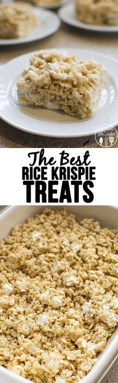The best rice krispy treats - these are the best rice krispie treats. Soft and extra gooey with the addition of extra marshmallows. So delicious! Rice Crispy Treats, Krispie Treats, Rice Krispies, Yummy Treats, Sweet Treats, Cereal Treats, Paleo Cereal, Quinoa Cereal, Trix Cereal