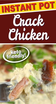 Instant Pot Crack Chicken is the ULTIMATE recipe to make for dinner. Adventures of a Nurse brings you this delicious keto recipe that combines chicken, ranch, bacon, and creamy cheese for the best recipe you will ever make! Give this pressure cooker chicken recipe a try. It is delicious! Pressure Cooking Recipes, Crock Pot Cooking, Slow Cooker Recipes, Pressure Cooker Chicken, Instant Pot Pressure Cooker, Best Instant Pot Recipe, Creamy Cheese, Crack Chicken, International Recipes
