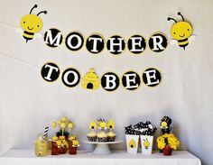 5d059611a23 Mother to bee baby shower décor! https   www.retailpackaging.com