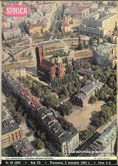 Warszawa - plac Narutowicza, fot. Zbyszko Siemaszko (1965)