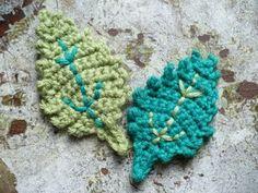 Elm Leaf Knitting Pattern : Crochet Patterns: Oak, Birch, and Elm Leaves Birches, Leaves and Crochet Pa...