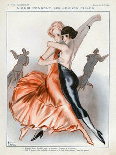 La Vie Parisienne 1931 France Cc by The Advertising Archives Art Deco Posters, Vintage Posters, Vintage Art, Art Deco Illustration, Belle Epoque, Art Quotidien, Tango Art, Advertising Archives, Lesbian Art