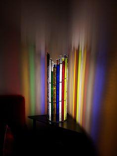 Vitraux d'art Vanessa Dazelle : lampes de salon en vitrail