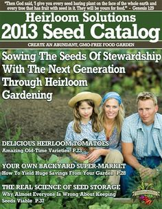 Heirloom Solutions.  Fresh Heirloom Seeds     Whether it's a few heirloom tomato plants on the patio or a large garden that can feed your entire family, gardening is an important step towards getting back to the basics and living the good life God intended for us to live. Do your part; get out in the garden and celebrate a little spot of God's marvelous creation.