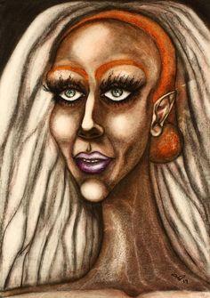 Female Portrait, Woman Portrait, Abstract Portrait, Painting Abstract, Original Paintings, Original Art, Pastel Portraits, Painting Process, International Artist